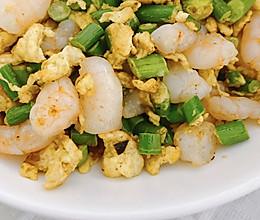 #餐桌上的春日限定#【上班族简菜】蒜苔鸡蛋炒虾仁的做法