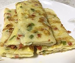 鸡蛋饼-营养早餐的做法