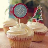 海绵纸杯蛋糕~圣诞节可爱小点心#九阳烘焙剧场#的做法图解14