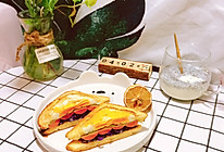 #换着花样吃早餐#快手鸡蛋火腿三明治的做法