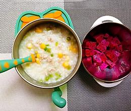 青豆玉米鸡肉粥的做法
