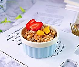 #我们约饭吧#全麦水果吐司布丁的做法