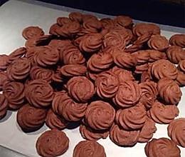 巧克力曲奇-----巧克力杏仁曲奇的做法