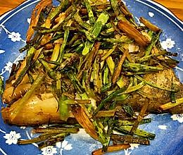 葱油鸦片鱼头的做法