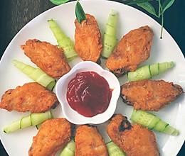 #合理膳食 营养健康进家庭#快手蒜香炸鸡翅的做法