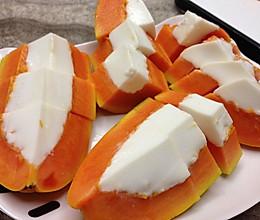 木瓜椰汁糕的做法