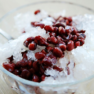 自制凉爽红豆冰沙