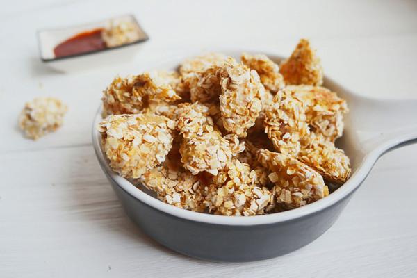 无油燕麦鸡米花的做法
