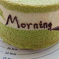 #硬核菜谱制作人#菠菜戚风蛋糕的做法图解13