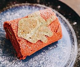 圣诞红丝绒蛋糕卷的做法