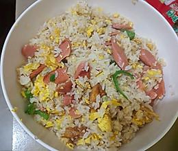 火腿鸡蛋炒饭的做法