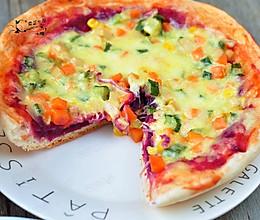 紫薯双味披萨【九阳铁釜饭煲】的做法