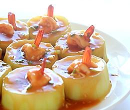 蒲瓜蒸虾球的做法