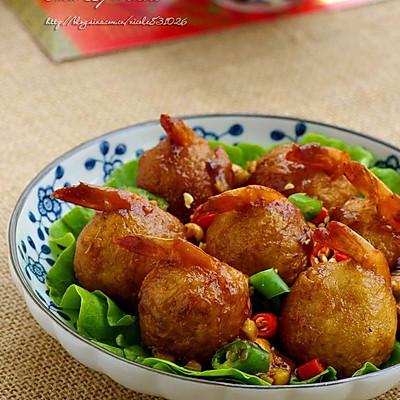 宫保土豆虾球