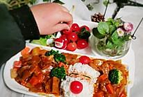 """#甜蜜暖冬,""""焙""""感幸福#零厨艺也能做的咖喱牛腩饭的做法"""