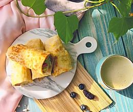 #憋在家里吃什么#美味早餐面食——鸡蛋灌饼的做法