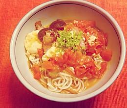 西红柿鸡蛋米线的做法