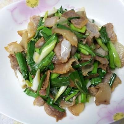 咸肉炒大蒜