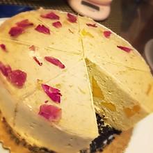 芒果芝士蛋糕+玫瑰镜面