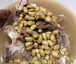#餐桌上的春日限定#牛脊骨煲黄豆汤的做法