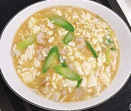 豆腐虾仁芦笋羹的做法