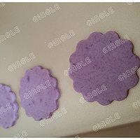 紫薯樱花饼干,有颜更好吃#浪漫樱花季#的做法图解7