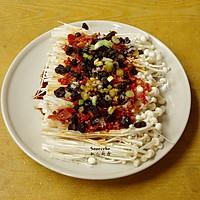 开胃下饭菜,剁椒金针菇的做法图解3
