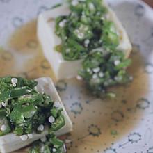 清爽日式秋葵拌豆腐