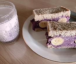 紫紫芋泥吐司的做法