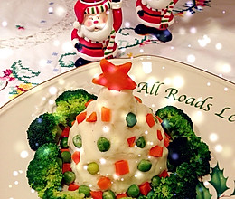 圣诞树版土豆泥的做法