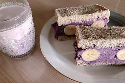 紫紫芋泥吐司