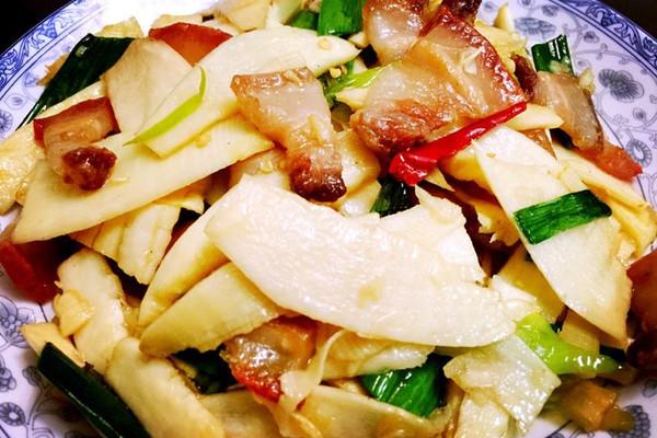冬笋炒肉的做法