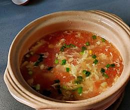 低脂低卡❗️汤鲜味美的番茄鸡蛋汤三碗都不够喝的做法