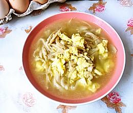 平菇鸡蛋汤的做法