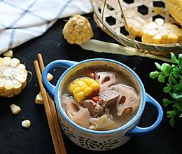 莲藕玉米猪脚汤的做法