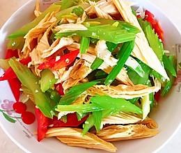 凉拌腐竹芹菜的做法