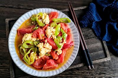 西红柿尖椒炒鸡蛋