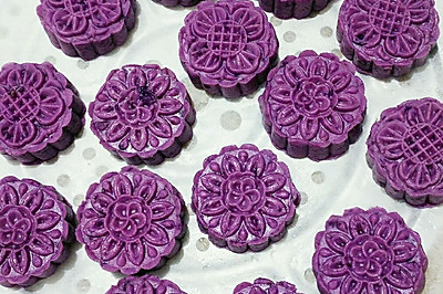 家庭自制奶香紫薯糕