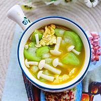 低脂美味的丝瓜菌菇鸡蛋汤的做法图解12