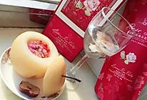冰糖雪梨玫瑰盅的做法
