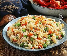 蒜香小龙虾炒饭的做法