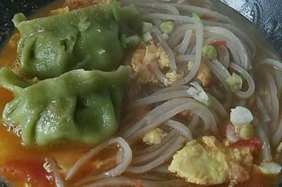 西红柿鸡蛋饺子面