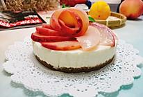 蜜桃香柠酸奶蜂蜜慕斯蛋糕:不用烤箱的蛋糕的做法