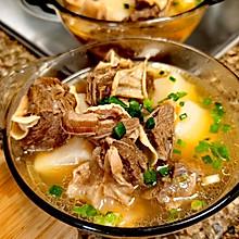 炖白萝卜牛腩汤(冬季滋补)