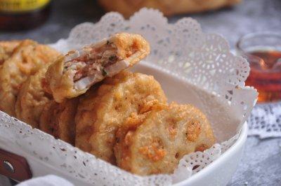 鲜虾入味夹藕天成