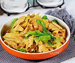 #父亲节,给老爸做道菜#干豆腐包菜炒鸡片的做法