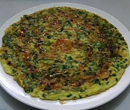 香煎韭菜鸡蛋饼的做法