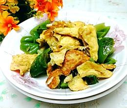 #合理膳食 营养健康进家庭#青椒炒鸡蛋的做法
