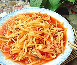 番茄土豆丝的做法