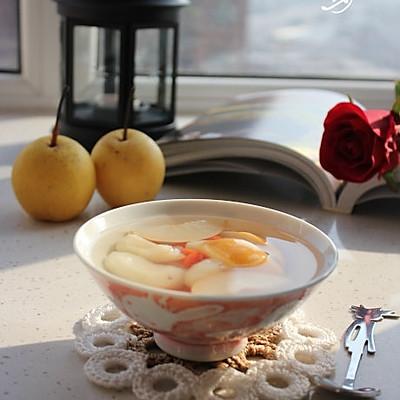 荸荠甜梨汤